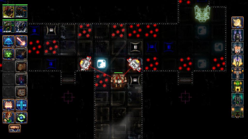 ミッション攻略画面。誘導レーザーでガッチリ狙われています